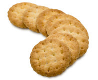 Biscuits in a white background Royalty Free Stock Photography