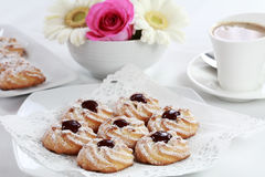 Biscuits and whitecoffee Royalty Free Stock Image