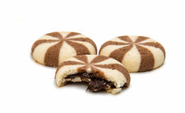 Biscuits With Chocolate Filling Stock Images