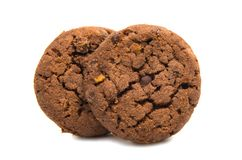 Biscuits With Chocolate Isolated Stock Photography