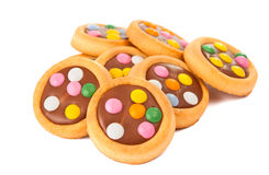 Biscuits With Milk Chocolate Stock Images