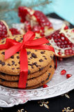 Biscuits With Pomegranate Stock Photos