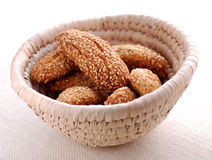 Biscuits With Sesame Seeds Stock Photography