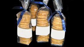 Biscuits. wrapped biscuit. store product Stock Photo