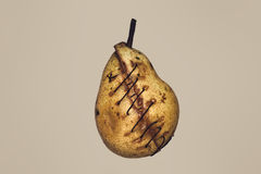 Bisected pear Stock Photos