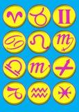 Biselado y grabe el símbolo del horóscopo stock de ilustración