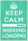 Biselo la espera para que el fin de semana comience Imagen de archivo libre de regalías