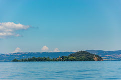 Bisentina Island on the Bolsena Lake Stock Photo