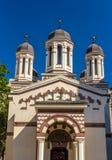 Biserica Zlatari在布加勒斯特 库存照片