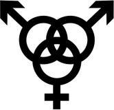 Bisexual - hombre, mujer, hombre stock de ilustración