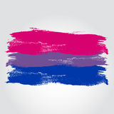 Bisexual pride flag in a form of brush stroke Royalty Free Stock Photo