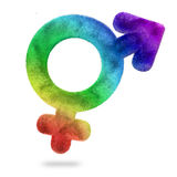 Bisexual symbol. Multicolored bisexual symbol on white background stock illustration