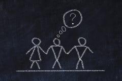 Bisexual or transgender concept. Chalk sketch on black board. Bisexual or transgender concept. Chalk sketch on black board stock photography