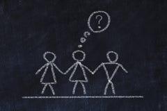 Bisexual or transgender concept. Chalk sketch on black board. Bisexual or transgender concept. Chalk sketch on black board stock photo