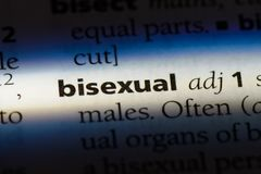 Bisexual. Word in a dictionary.  concept stock photography