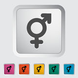 Bisexuals sign. Single flat icon on the button. Vector illustration Royalty Free Stock Images