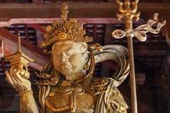 Bishamonten -时运的日本七个神之一在Todaiji寺庙的在奈良 库存图片