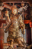 Bishamonten - one of the Japanese Seven Gods of Fortune at Todaiji Temple in Nara Stock Photography