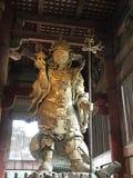 Bishamonten watching over Tōdai-ji. In Japan, Bishamonten is thought of as an armor-clad god of war or warriors and a punisher of evildoers. Bishamon is royalty free stock photos