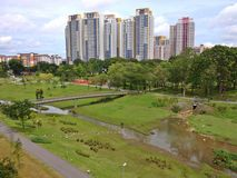 Bishan-Ang Mo Kio park Stock Photos