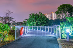 Bishan Park Bridge. At night Royalty Free Stock Photos