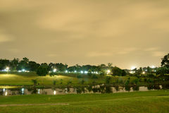 Bishan Park at Night. Night at bishan park along the river. this river known the best river in singapore Stock Photo