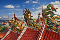 Bishan Temple in Taipei Stock Photo