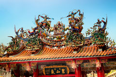 Bishan Temple in Taipei - Taiwan. Royalty Free Stock Photo