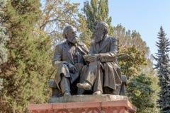 Bishkek Kirgistan, Sierpień, - 25, 2016: Zabytek Karl Marx a Obrazy Stock