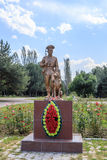Bishkek, Kyrgyzstan - August 25, 2016: Monument to frontier guar. Ds in Victory Park Royalty Free Stock Images
