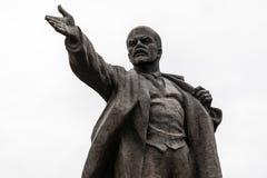 Big Lenin Statue in Bishkek stock photos