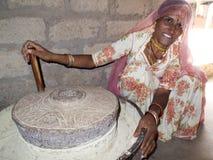 Bishnoi妇女的画象。 库存图片