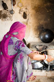 Bishnoi woman, Jodhpur, India Stock Photo