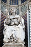 Bishop Agostino Tinacci. Portal of Cattedrale di Santa Maria del Fiore Cathedral of Saint Mary of the Flower, Florence, Italy Royalty Free Stock Photography
