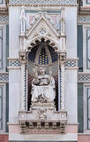 Bishop Agostino Tinacci, Portal of Florence Cathedral Stock Images