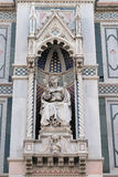 Bishop Agostino Tinacci, Portal of Florence Cathedral Stock Photography