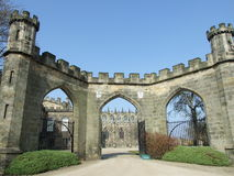 Bishop Auckland Castle from the Gates Stock Images