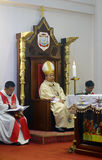 Bishop caibingrui presided over the ceremony Royalty Free Stock Photos
