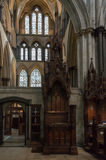 Bishop Chair Cathedra in Salisbury Cathedral Stock Image