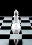 Bishop chess piece over black Stock Image