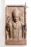 Bishop in Frauenkirche Munich. A bishop bas relief on a wall of the interior of Frauenkirche church in Munich, Bavaria, Germany Royalty Free Stock Images