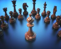 Bishop Chess Game Board Royalty Free Stock Photography