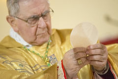 Bishop during Holy Communion Royalty Free Stock Photography