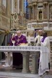 Bishop officiating Communion Stock Photos