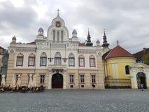 Bishop& ortodoxo x27; residencia de s y Vicariate serbio en Timisoara, Rumania - Union Square Fotografía de archivo libre de regalías