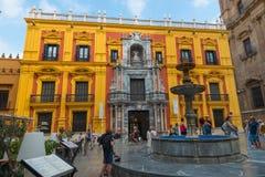 Bishop Palace, Palacio Episcopal, in Malaga. Bishop Palace Palacio Episcopal in Malaga, Andalusia, Spain royalty free stock photos