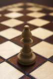 Bishop piece in chess game Stock Image