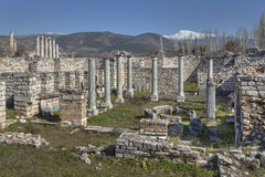 Bishop`s house in Aphrodisias Royalty Free Stock Photo