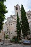 The bishop's palace. Courtyard in the bishop's palace close to the cathedral of Ciutadella Stock Photo