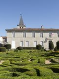 The Bishop`s palace. Garden in Castres Royalty Free Stock Photos